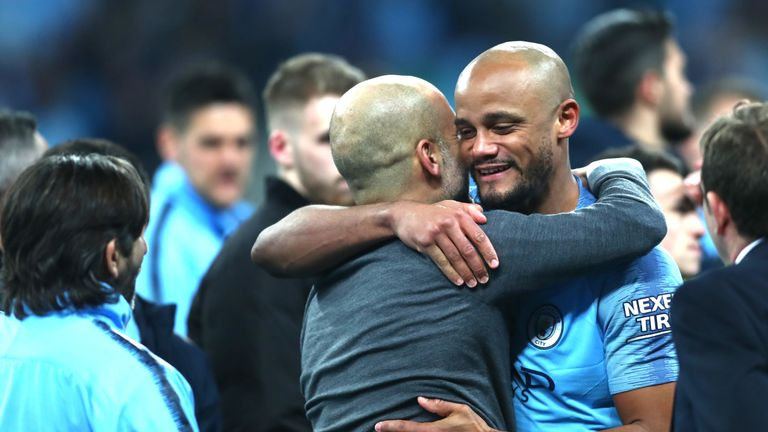 Manchester City boss Pep Guardiola says he will miss Vincent Kompany at the club
