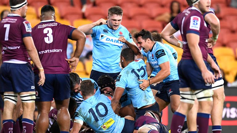 The Waratahs won a stunning contest against the Reds