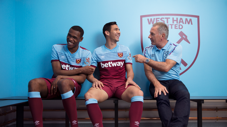 West Ham have unveiled their stylish new home shirt for the 2019/20 season