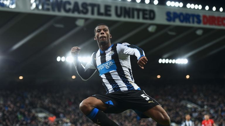 Wijnaldum scored in Newcastle's victory over Liverpool at St James' Park in December 2015