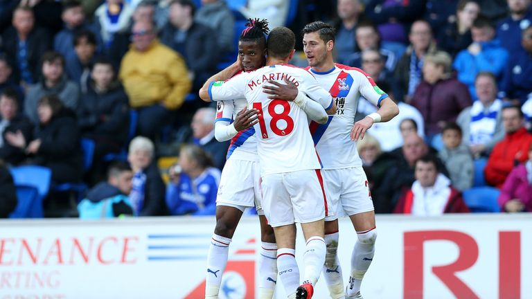 Wilfried Zaha netted the first goal on Saturday