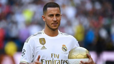 Eden Hazard was unveiled as a Real Madrid player at the Bernabeu
