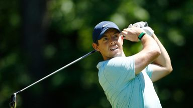 Rory McIlroy is five off the lead at the halfway stage