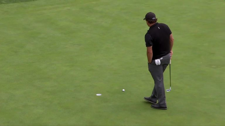Phil Mickelson was 'smoked' after missing a tap-in for par!