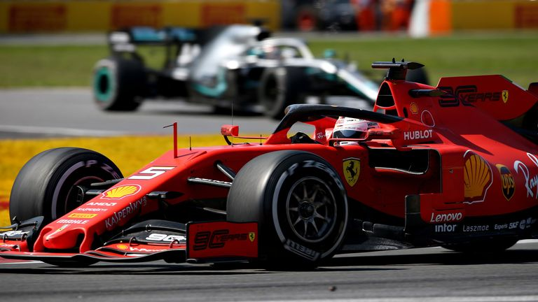 Ferrari's Sebastian Vettel vents his frustration over team radio after picking up a five-second time penalty for returning to the track unsafely
