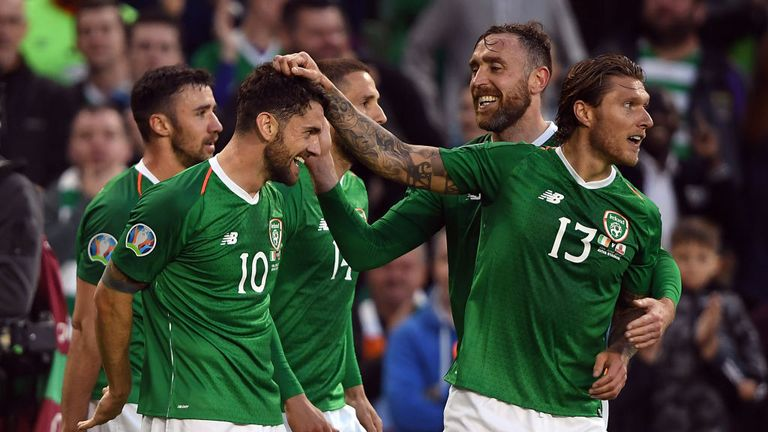 Robbie Brady secured the three points for Republic of Ireland