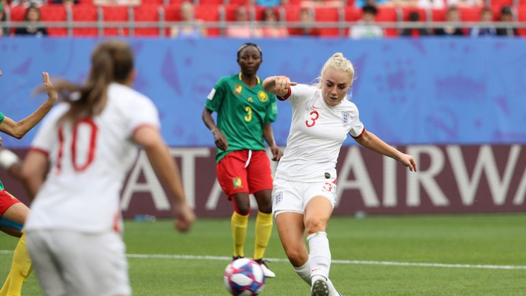 Alex Greenwood scored in England's 3-0 win against Cameroon