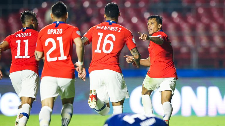 Sanchez scored his first goal in five months in Chile's win over Japan