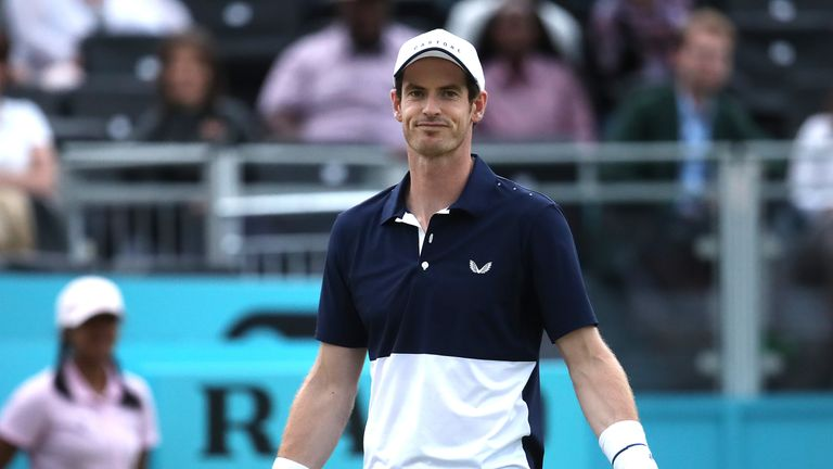 Andy Murray will be back in action on Saturday at Queen's Club