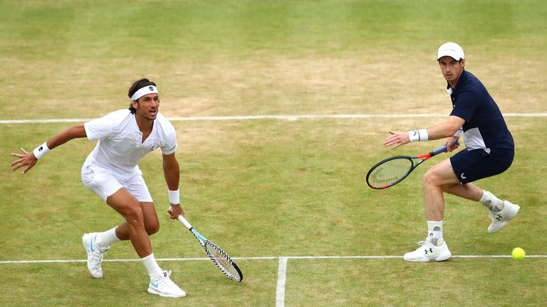Lopez and Murray in action at Queen's last year