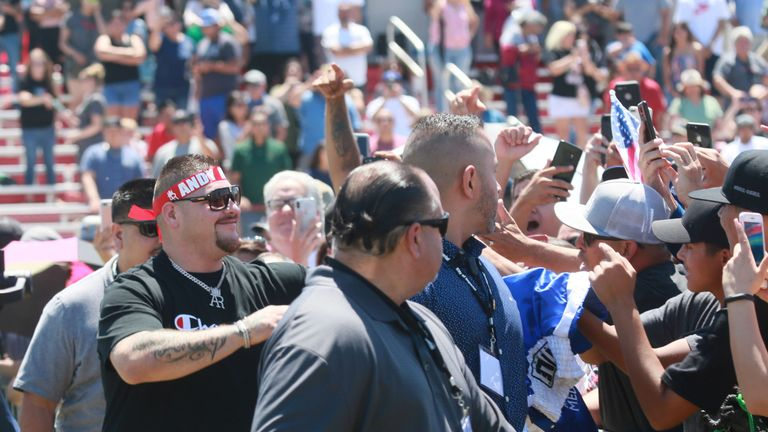 Ruiz Jr meets his fans on his return to California