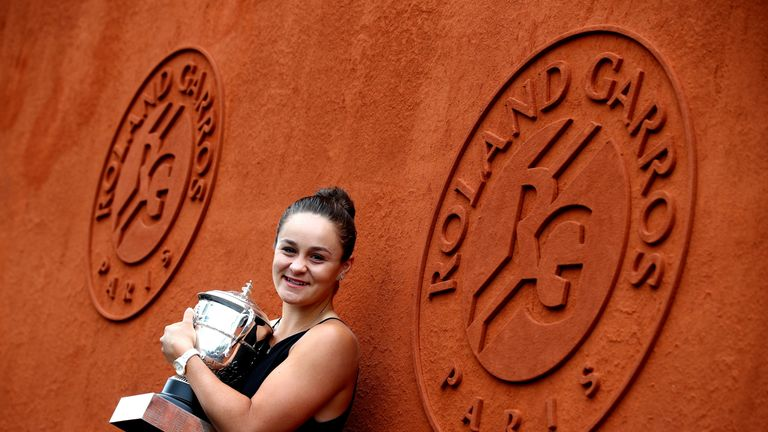 Ashleigh Barty is targeting world No 1 after winning the French Open at the weekend