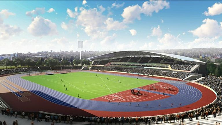 A brand new nine lane 400m track is part of the proposal