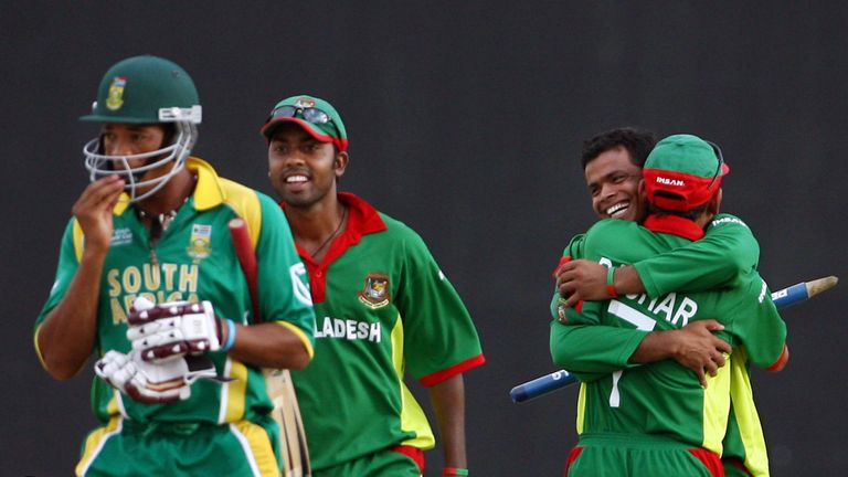 Bangladesh won by 67 runs during the super-eight match at the 2007 World Cup