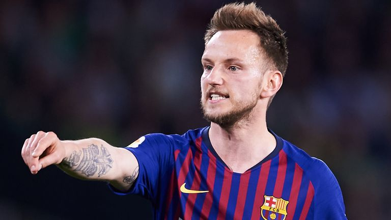 Barcelona's Ivan Rakitic has been linked with Man Utd