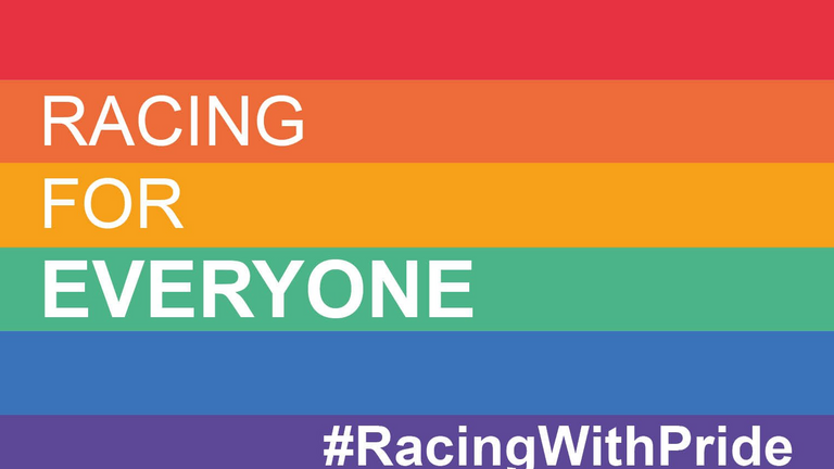 The #RacingWithPride initiative will run from June 28 until July 6