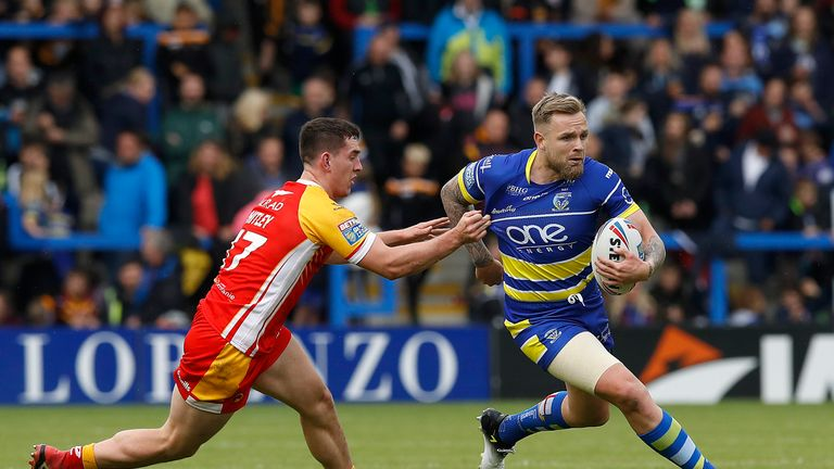 Blake Austin scored a first-half try for Warrington against Catalans Dragons