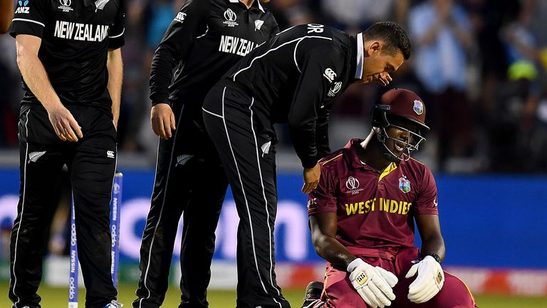 The West Indies are on the brink of elimination after Saturday's narrow loss to New Zealand