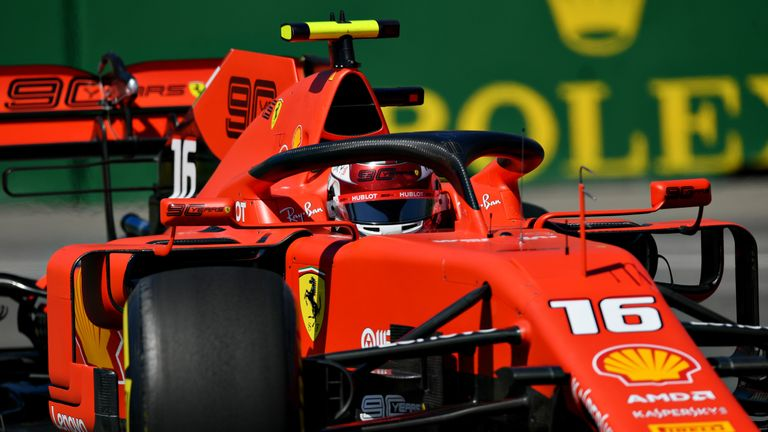 Charles Leclerc finished fastest for Ferrari in Canadian GP Practice Two