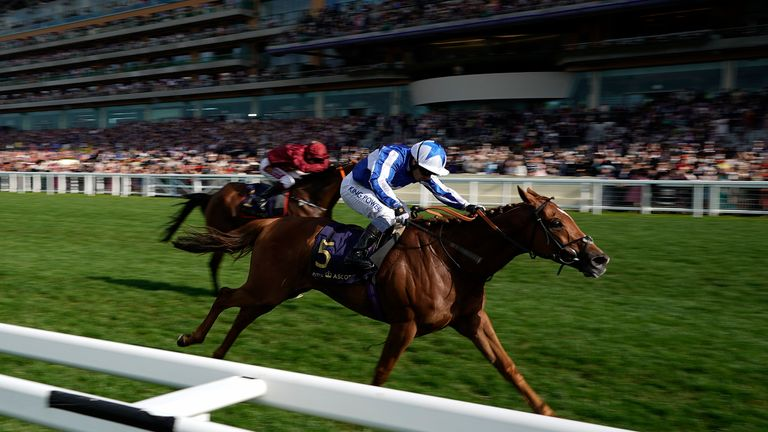Cleonte wins the Queen Alexandra Stakes at Royal Ascot