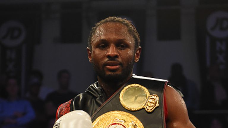 Richards with his WBA Continental belt