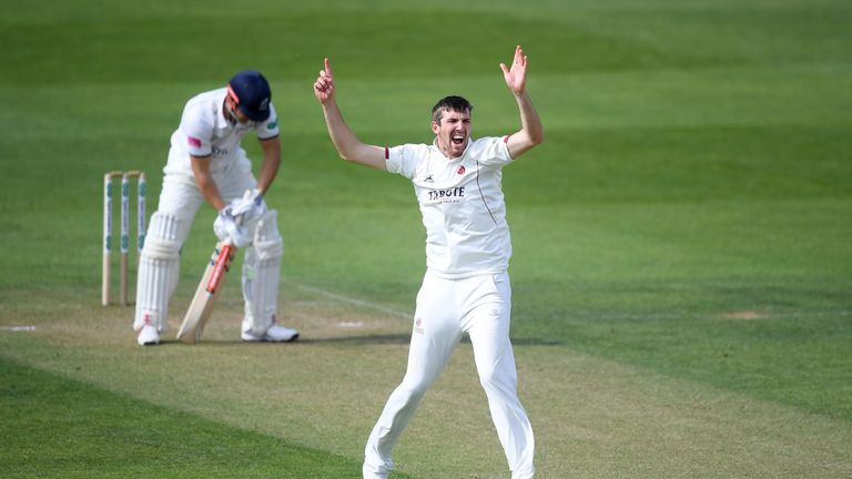 Craig Overton took five wickets in Somerset's County Championship win over Surrey