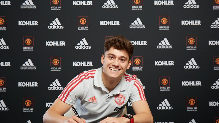 Daniel James has signed a five-year contract, with the option to extend for a further year