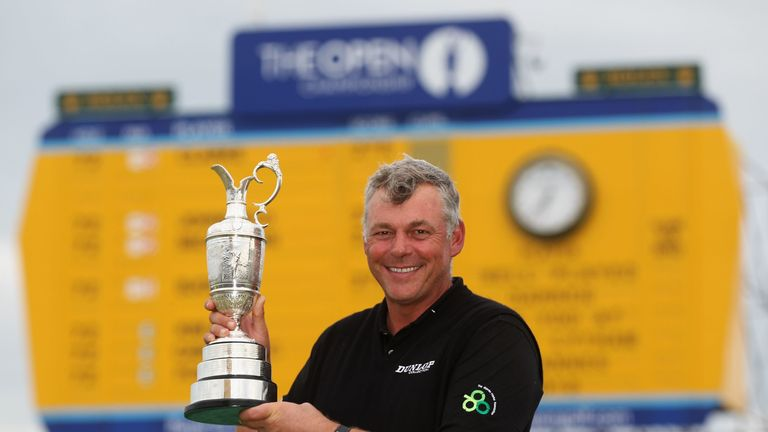 Darren Clarke is all smiles after his 2011 success