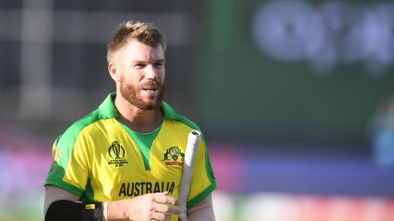 David Warner looked confident as he hit an unbeaten 89 against Afghanistan