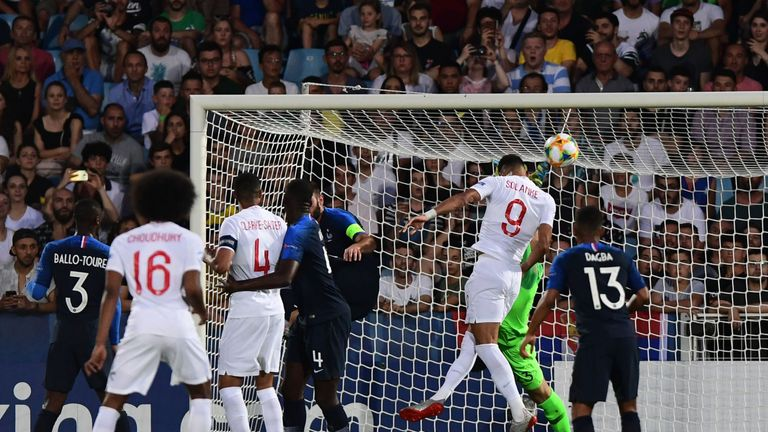 Domnic Solanke was unable to make a breakthrough against France