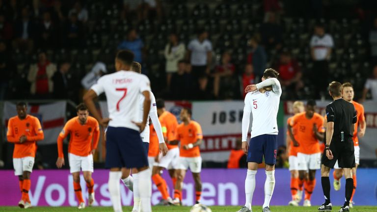 John Stones reacts after his mistake allows Netherlands to take an extra-time lead