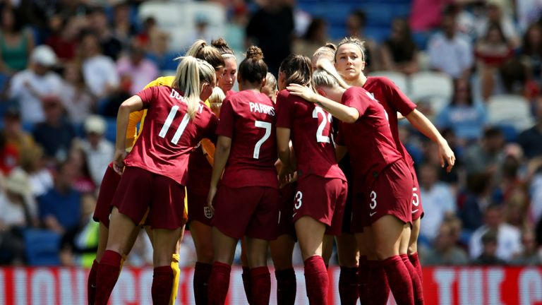 The Lionesses warmed up for the World Cup at the Amex Stadium last summer