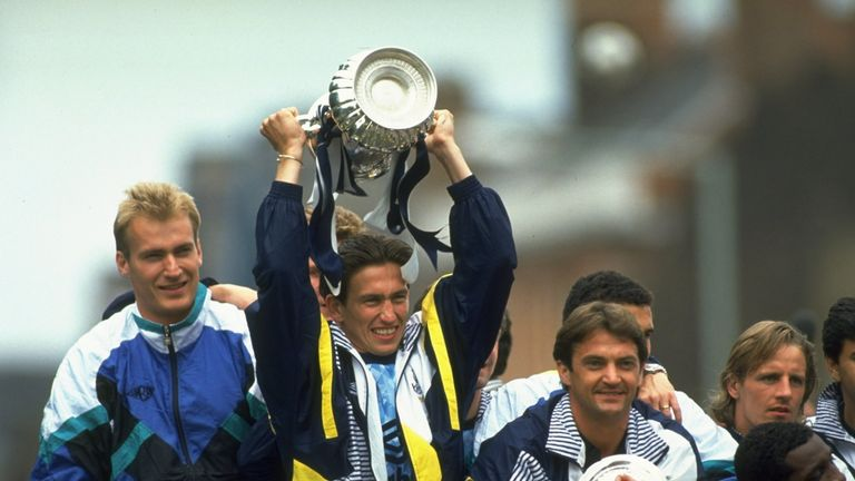 Edinburgh won the FA Cup with Tottenham in 1991