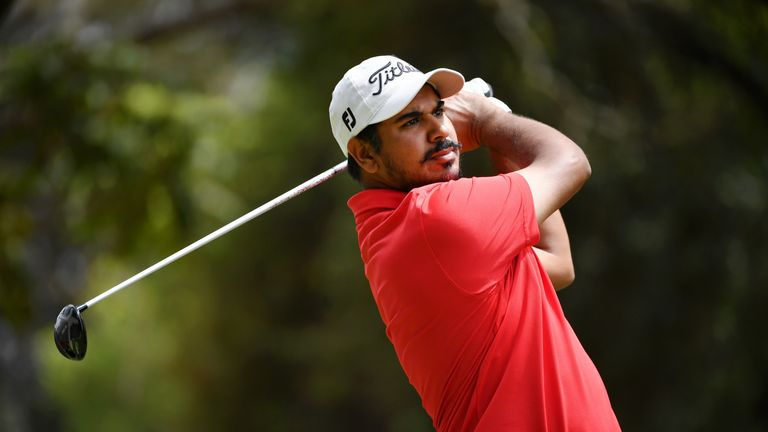 Bhullar holed out with a six-iron at the 196-yard par-three