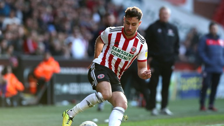 George Baldock has made 67 appearances for Sheffield United
