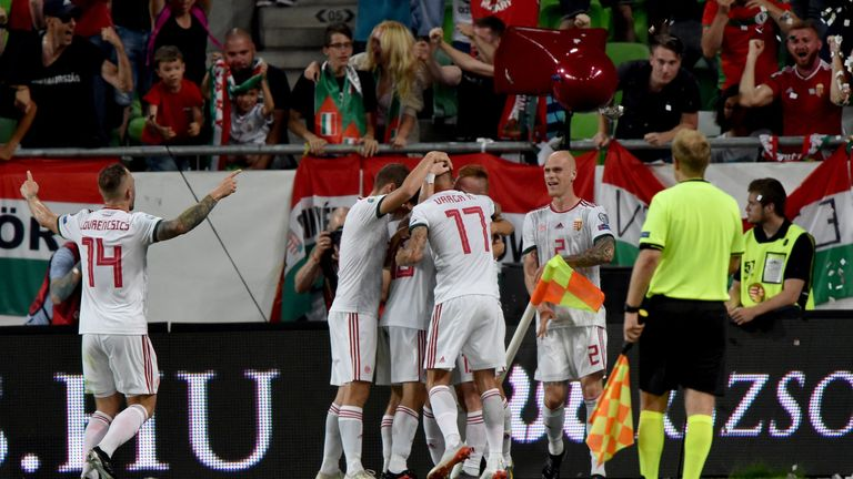Hungary celebrate Máté Pátkai's winner