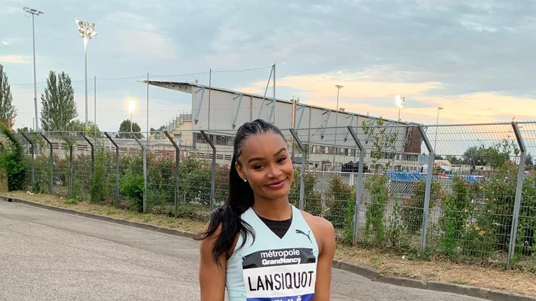 Imani Lansiquot looks in good form as she races around Europe