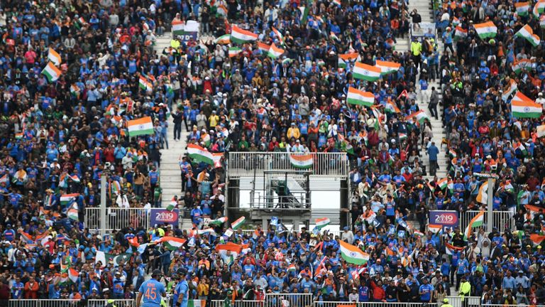 India fans made up around 90 per cent of the crowd at Old Trafford