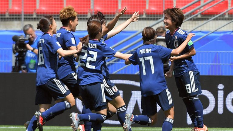 Japan celebrate doubling their lead