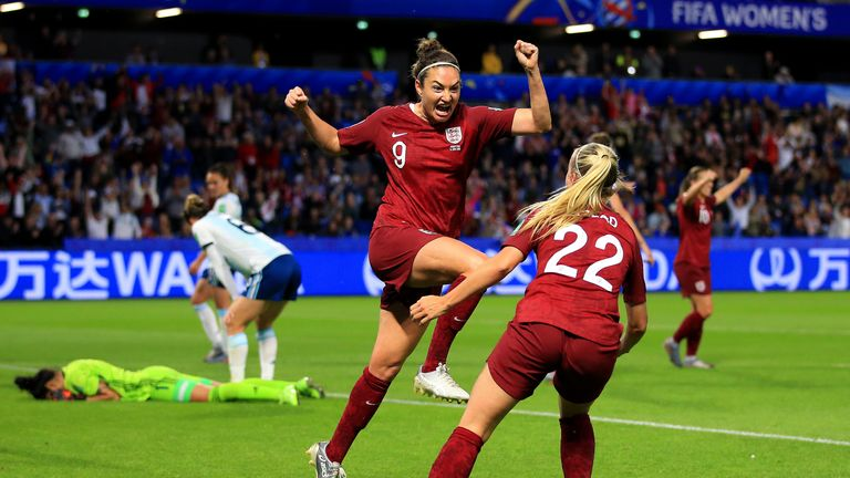 Jodie Taylor scored England's only goal in their 1-0 win over Argentina in Le Havre