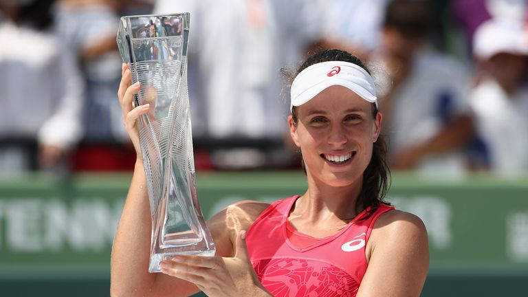 She upset Caroline Wozniacki to win the Miami Open at Crandon Park for the biggest title of her career to date