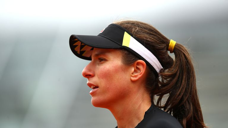 Johanna Konta lost in straight sets in the French Open semi-final