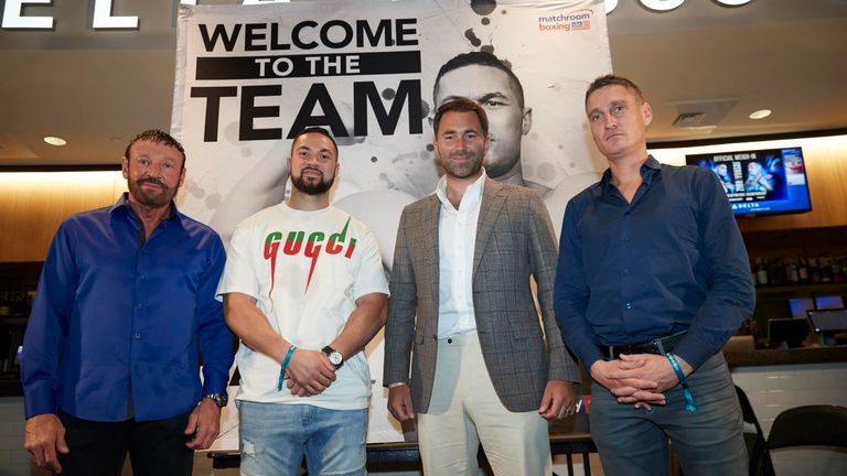Parker's team have linked up with promoter Eddie Hearn