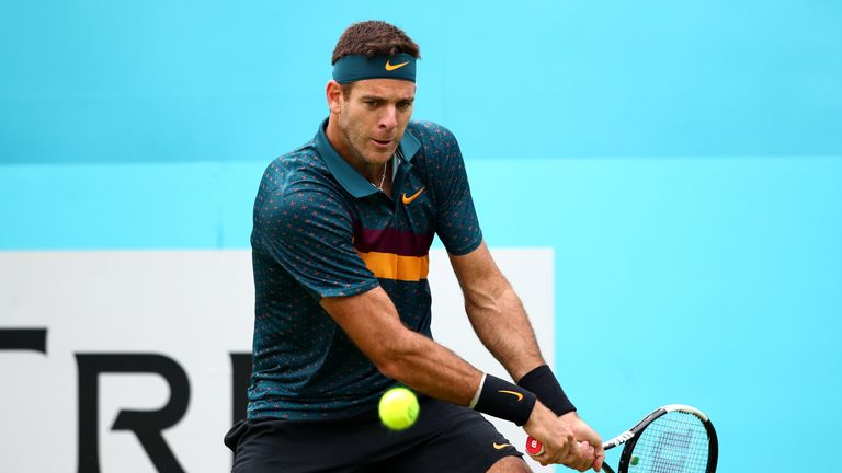 Injury layoff: Del Potro out of Wimbledon after another kneecap fracture