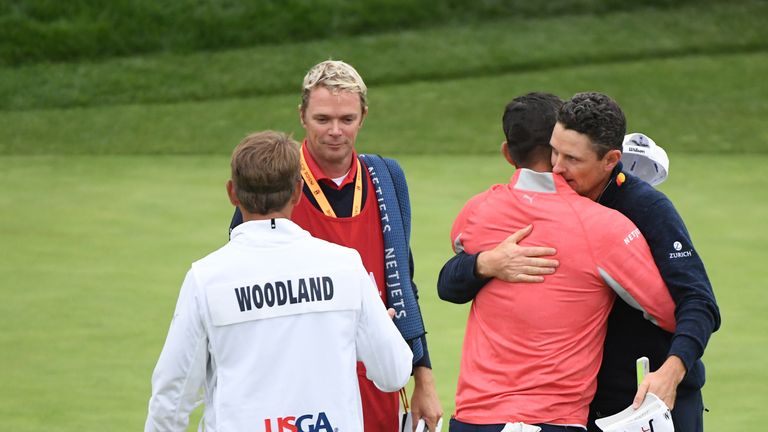 Gary Woodland played alongside Justin Rose on the final day
