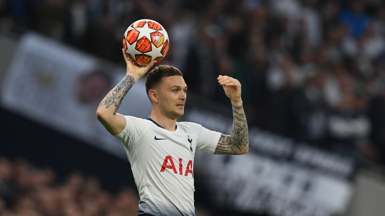 Kieran Trippier has been made available by Tottenham this summer