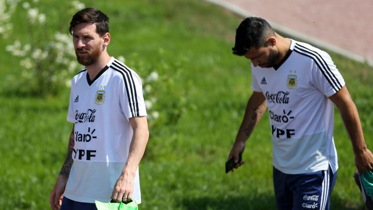 Sergio Aguero is likely to start for Argentina alongside Lionel Messi