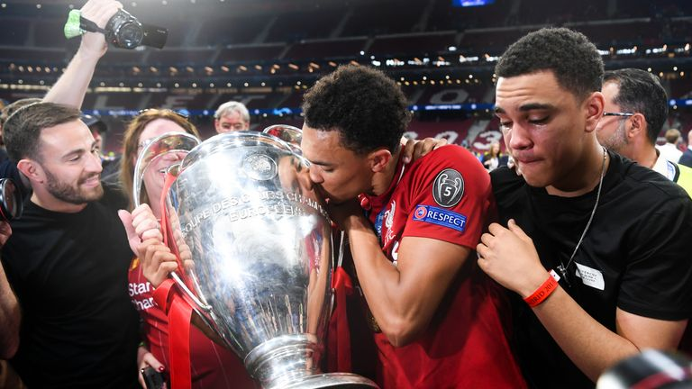 Alexander-Arnold has already played in two Champions League finals