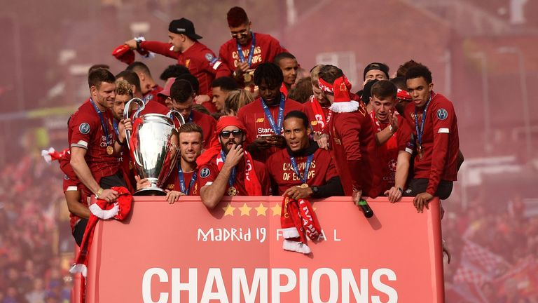 Liverpool celebrated a Champions League triumph at the weekend