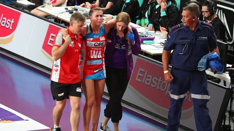 The club captain of NSW Swifts, Maddy Proud is the latest netballer to suffer an ACL injury